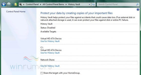 Windows 8 History Vault