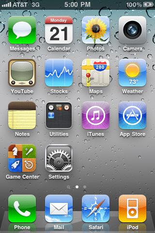 iOS SpringBoard