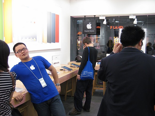 Fake Apple Store Employee