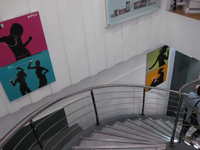 Fake Apple Store Stairs