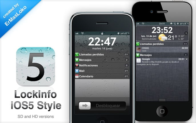 [LockInfo] iOS5 Style SD and HD