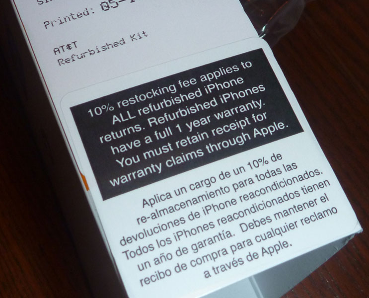 Apple Refurbished Warranty