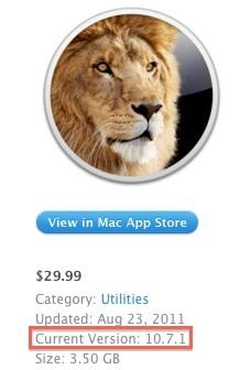 OS X Lion App Store update