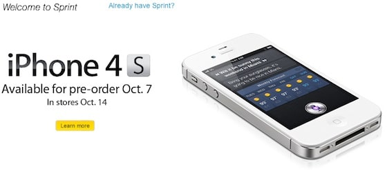 sprint iphone 4 pre-order