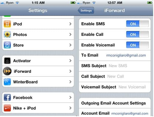 iphone voicemail setup get your iphone calls sms and voicemail sent to your e 12448