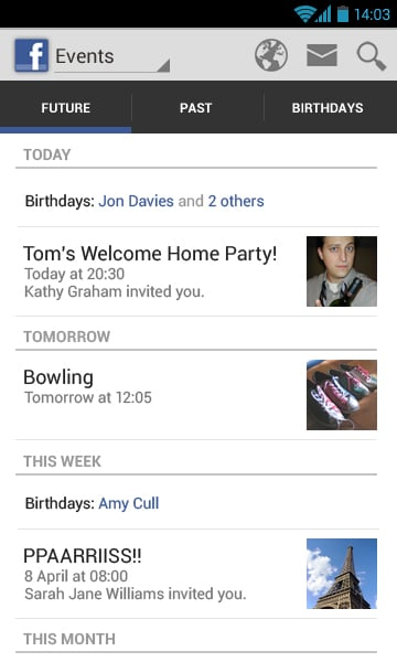 Facebook-android-mock-up