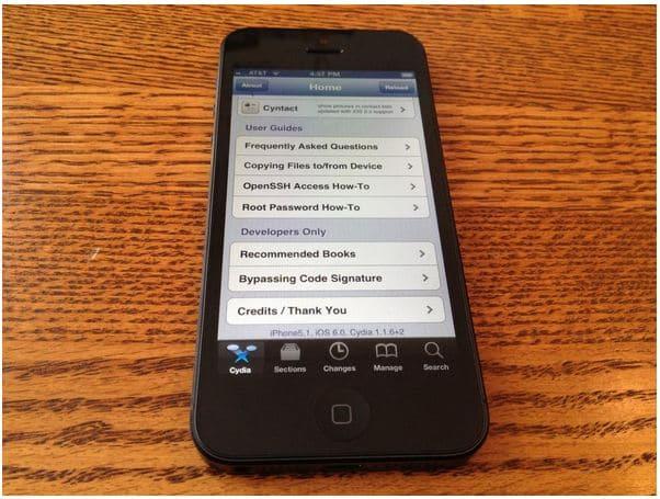 iPhone 5 jailbroken
