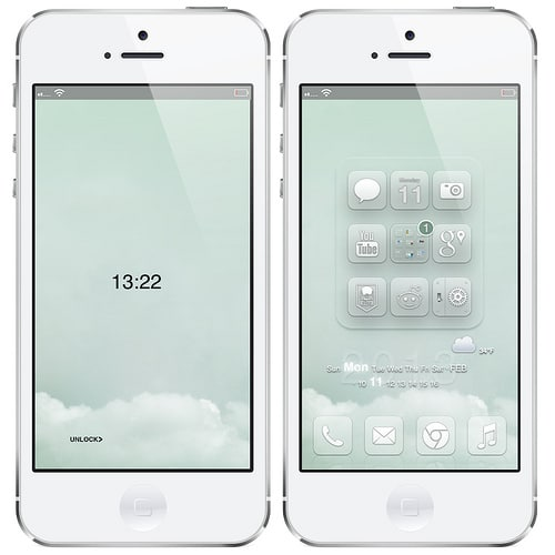iPhone 5 WinterBoard