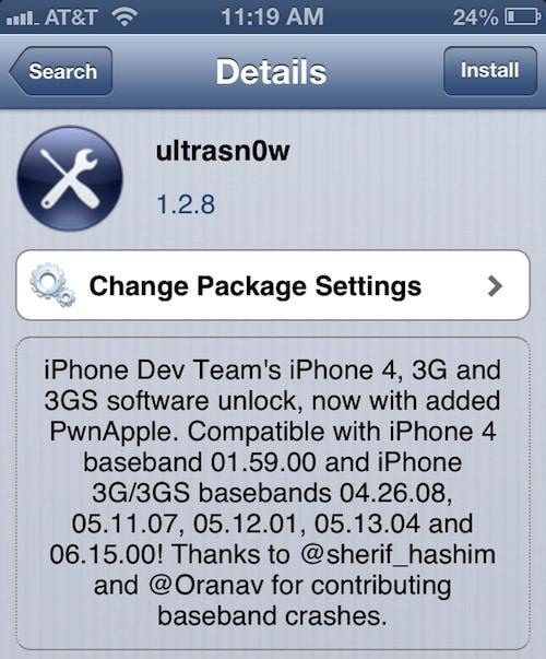 ultrasn0w 1.2.8 unlock