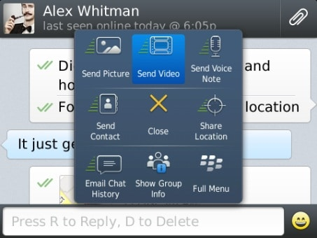 WhatsApp BlackBerry 10