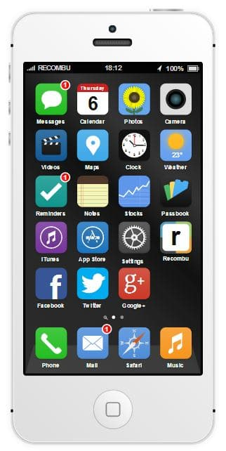 iPhone 5S iOS 7 interactive