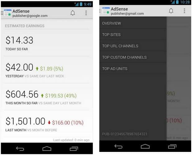 Adsense app Android