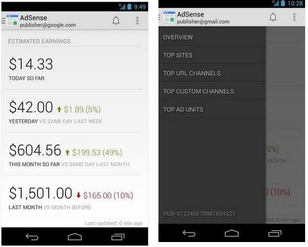 Adsense app Android