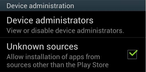 Android Unkown sources