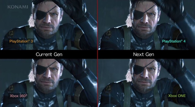 Ps4 vs xbox one metal gear solid v ground zeroes shows ps4 has