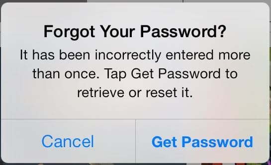 Forgot Your Password App Store