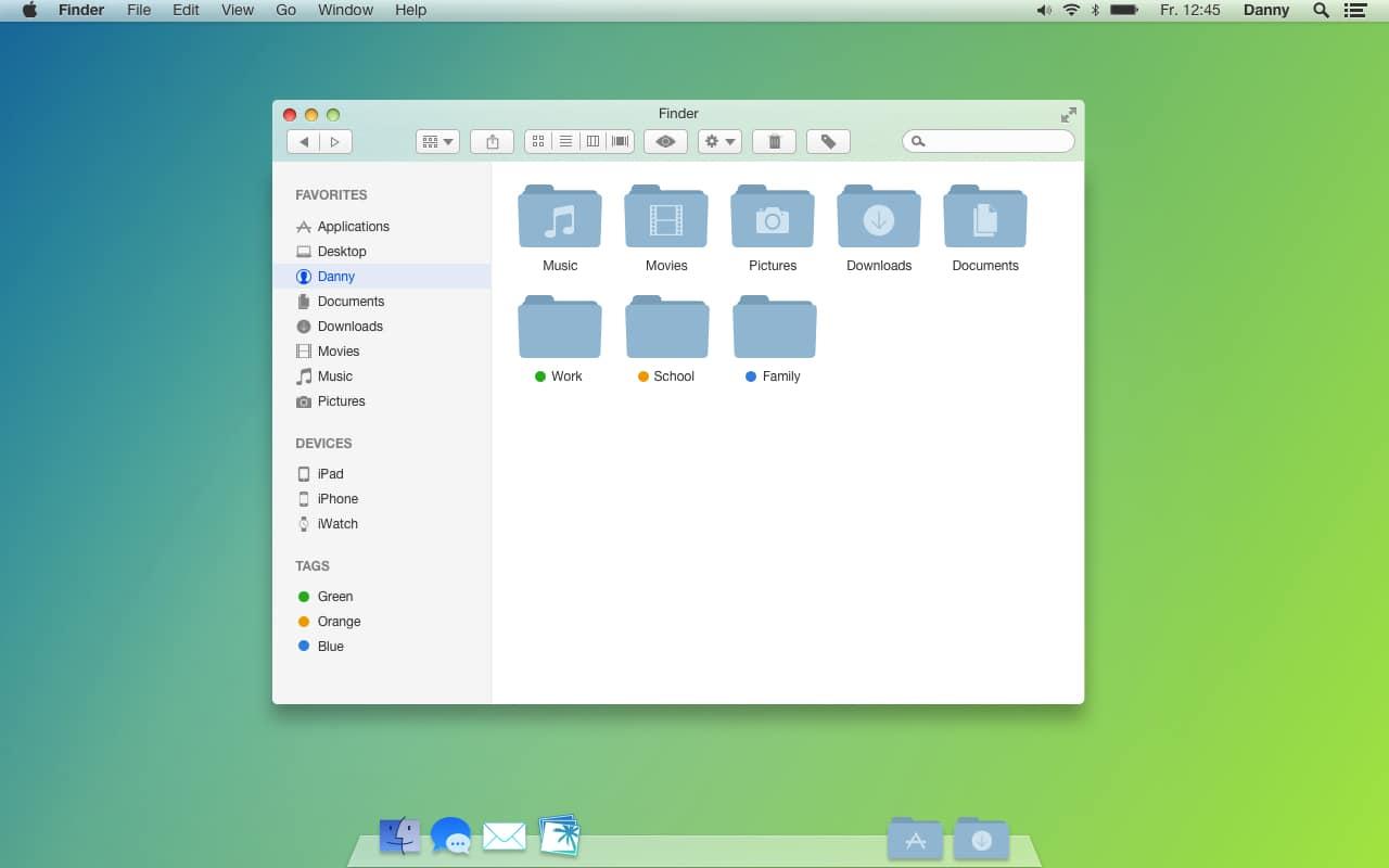 OS X 10.10 flat icons