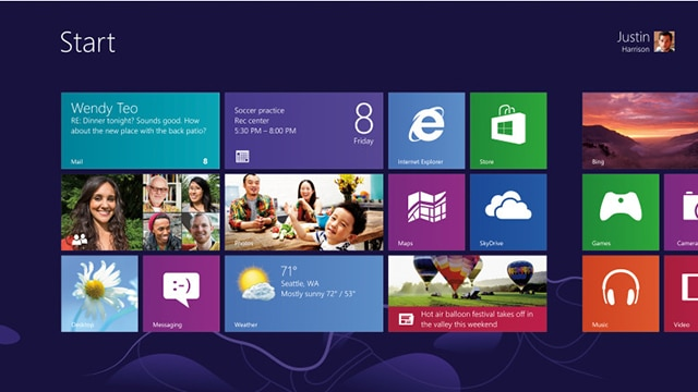 Windows 8 Start Metro