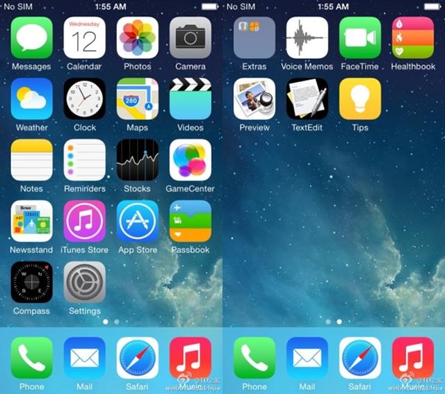 iOS 8 leak screenshot