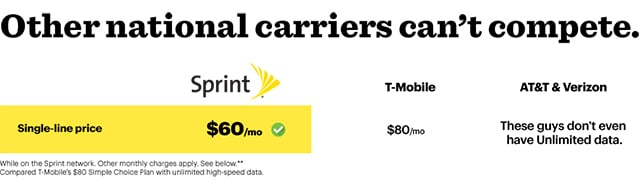 Sprint unlimited everything