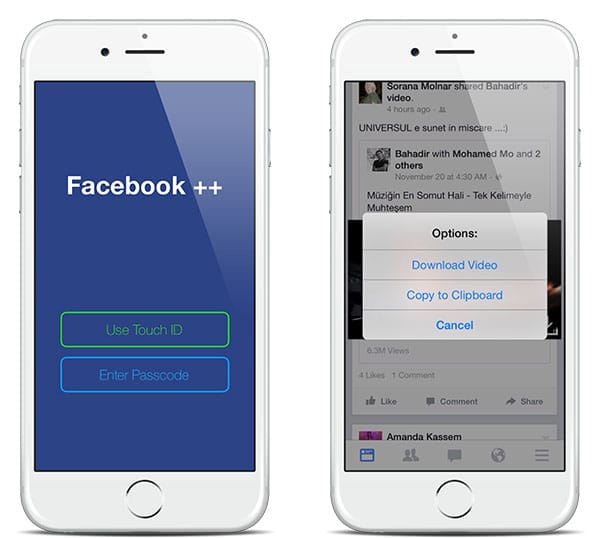 Facebook ++ Cydia