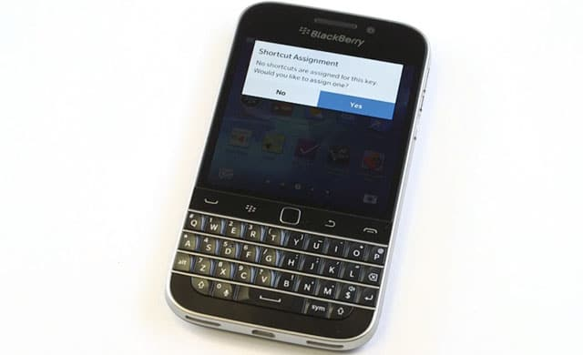 BlackBerry prefers iPhone than BlackBerry Classic to use Twitter (screenshot)