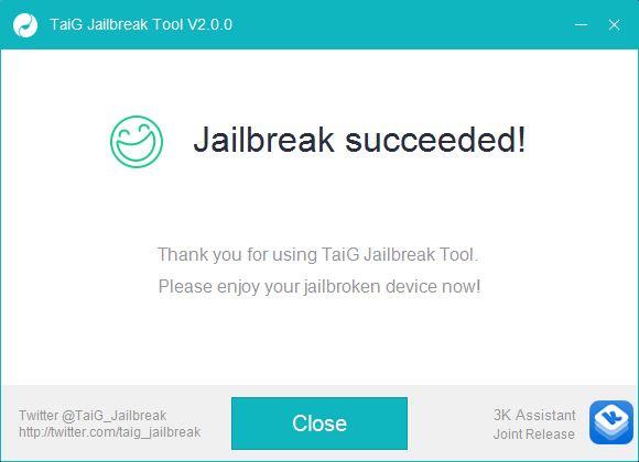 Jailbreak succeeded TaiG