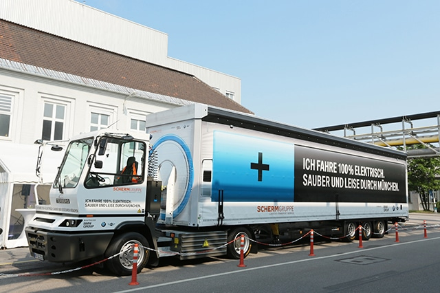 BMW electric semi truck