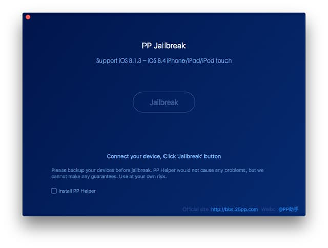 PP Jailbreak iOS 8.4 Mac