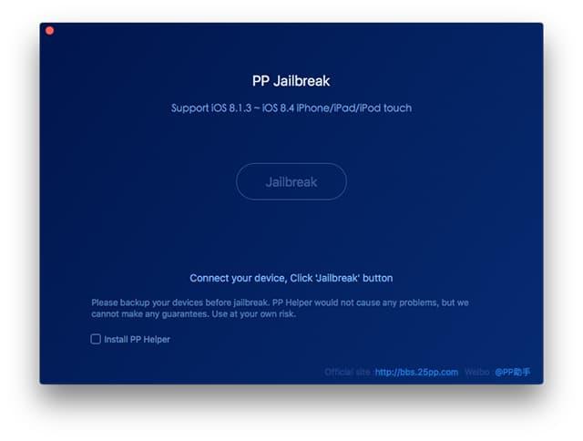 PP Jailbreak iOS 8.4 Mac
