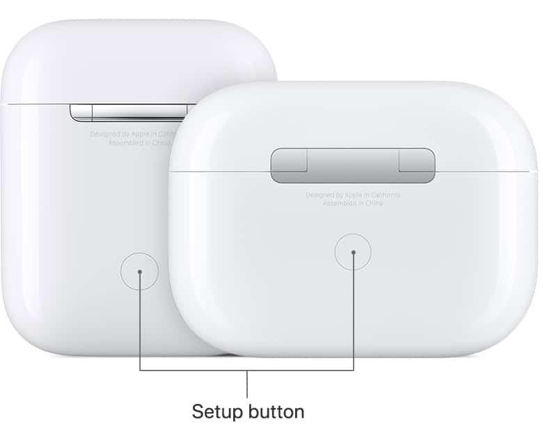 airpods pro setup button